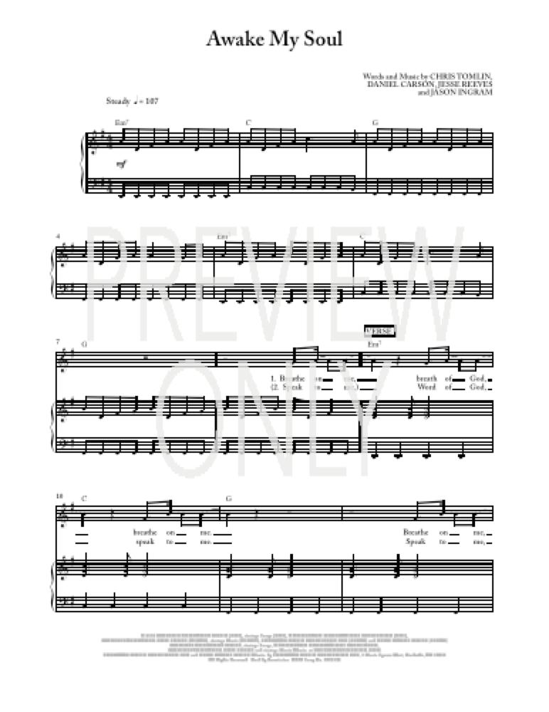 awake my soul chords pdf
