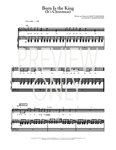Born Is The King (It's Christmas) Lead Sheet, Lyrics, & Chords | Hillsong Worship | WorshipHouse ...