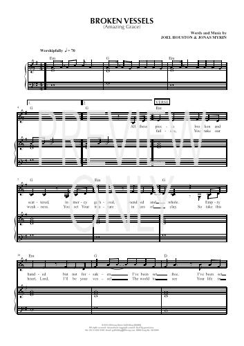 Broken Vessels Amazing Grace Lead Sheet Lyrics Chords