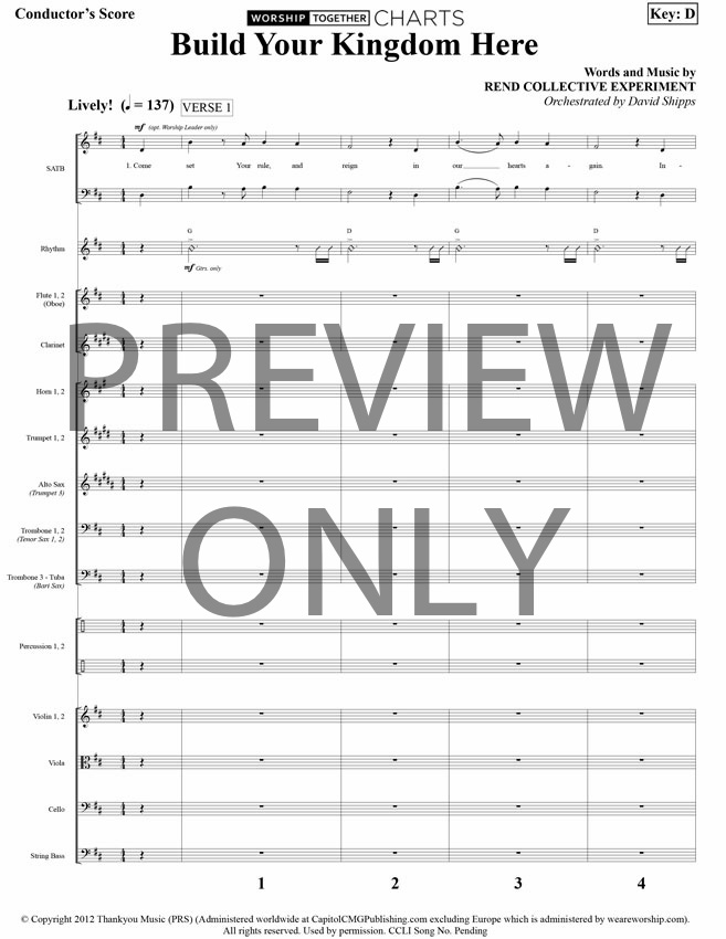 Build Your Kingdom Here Lead Sheet, Lyrics, & Chords | Rend ...