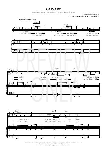 Calvary Lead Sheet, Lyrics, & Chords | Hillsong Worship
