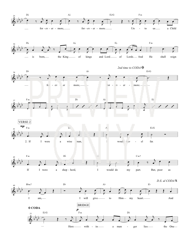 He Shall Reign Forevermore Lead Sheet, Lyrics, & Chords | Chris ...