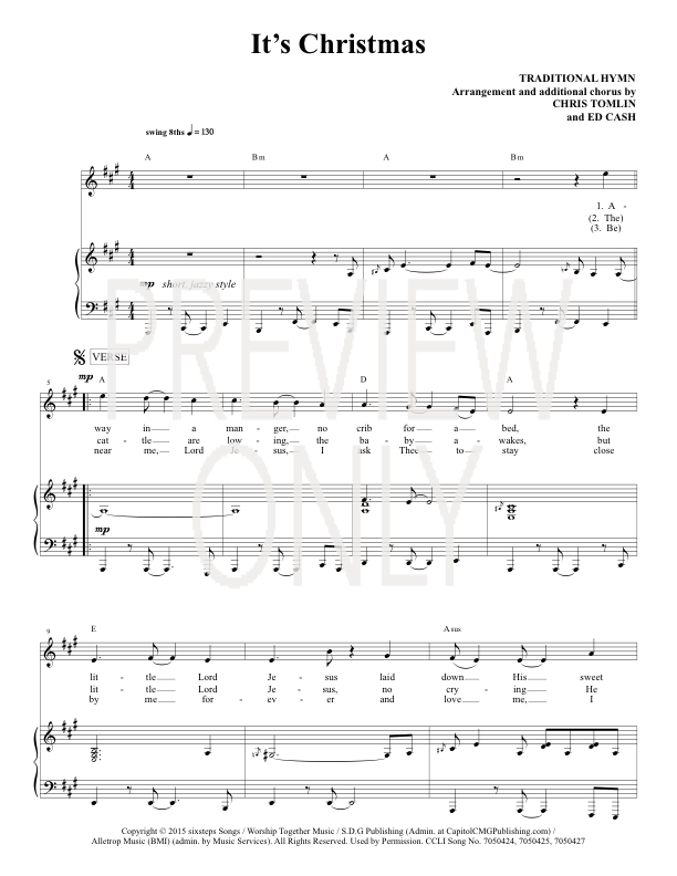 Chris Tomlin Christmas.It S Christmas Lead Sheet Lyrics Chords Chris Tomlin