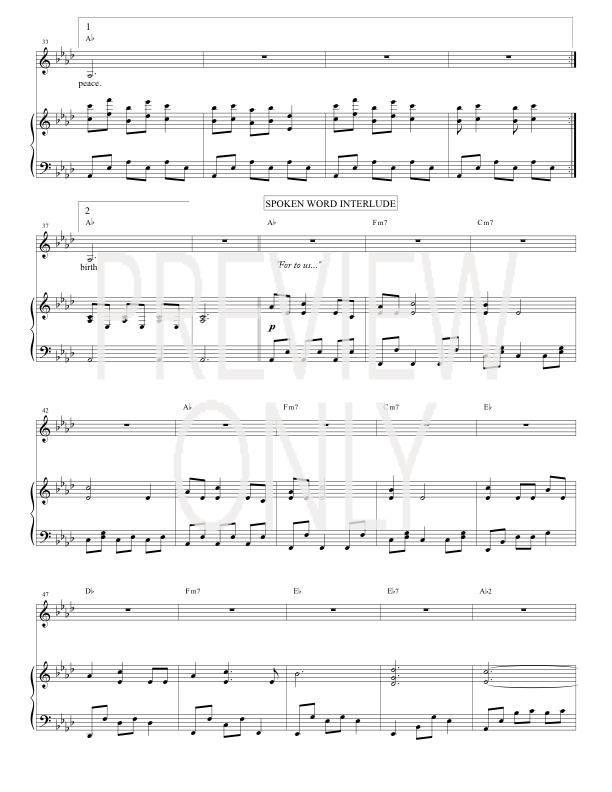 Silent Night Lead Sheet Lyrics Chords Chris Tomlin