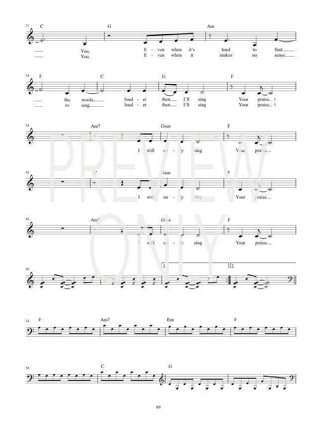 Even When It Hurts Praise Song Lead Sheet Lyrics Chords