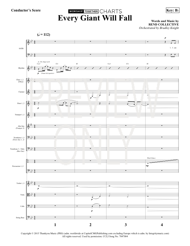 Every Giant Will Fall Lead Sheet, Lyrics, & Chords | Rend
