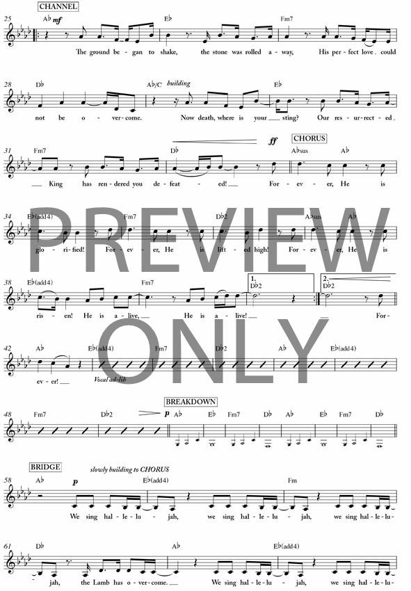 Forever Lead Sheet Lyrics Chords Kari Jobe Worshiphouse Media