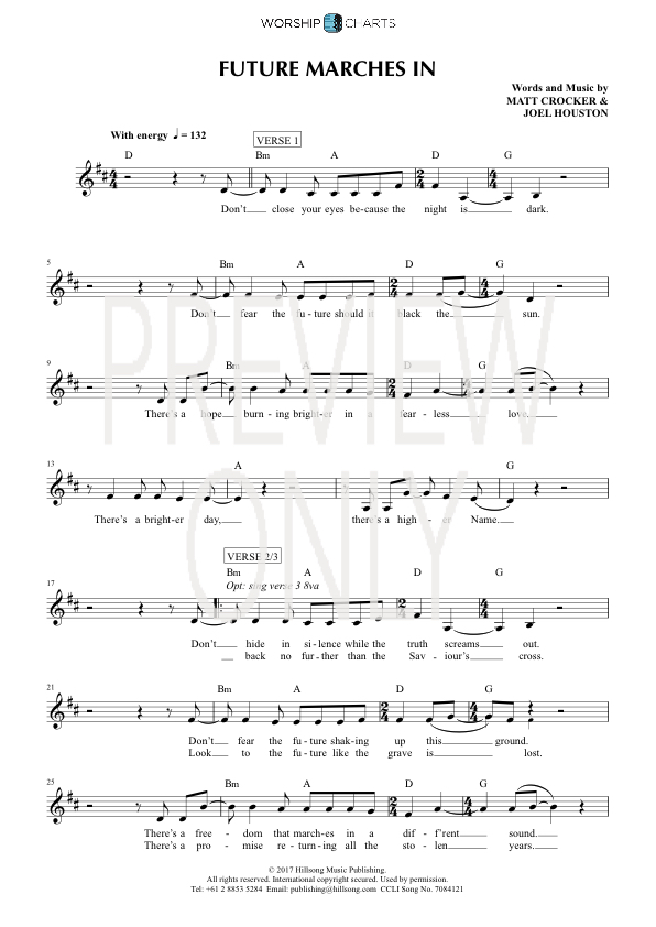 Future Marches In Lead Sheet, Lyrics, & Chords | Hillsong United ...