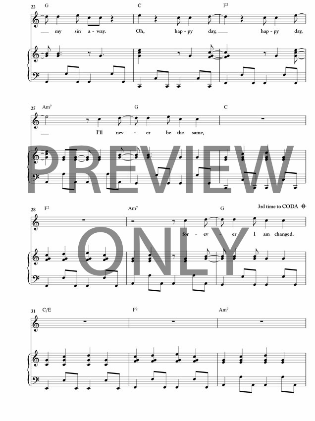 Happy Day Lead Sheet Lyrics Chords Tim Hughes Worshiphouse Media