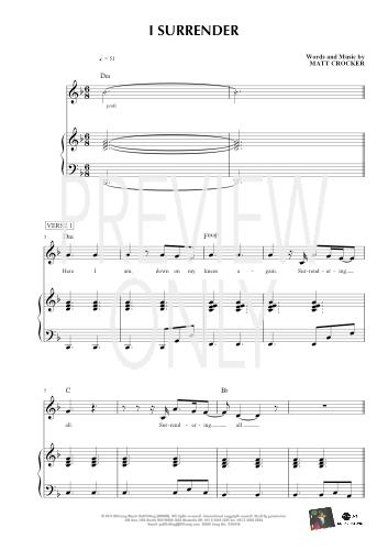 I Surrender Lead Sheet, Lyrics, & Chords | Hillsong ... | 353 x 500 jpeg 71kB