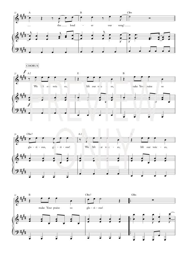Louder Lead Sheet Lyrics Chords Matt Redman Worshiphouse Media