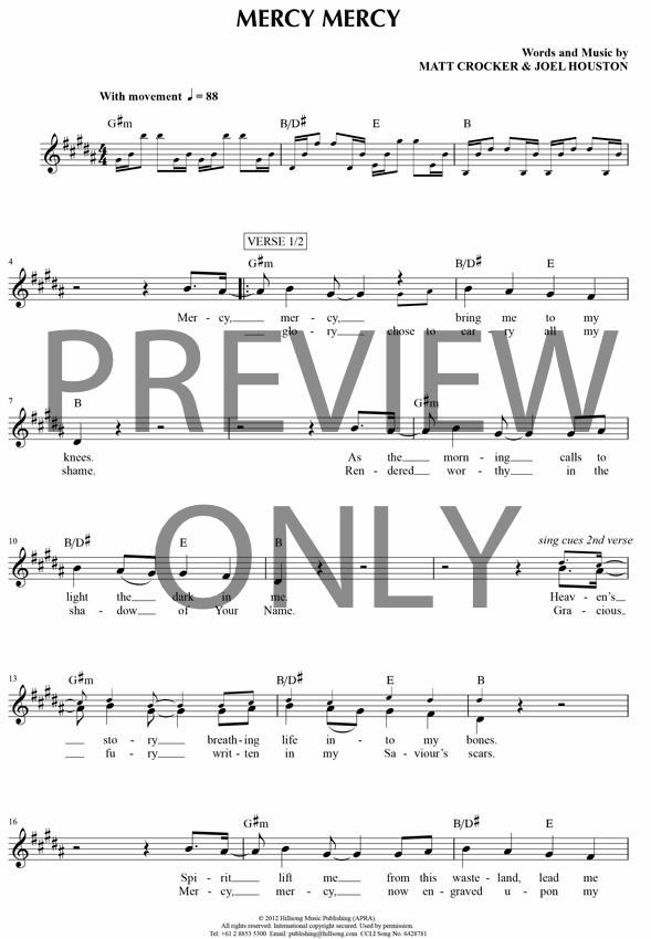 Lyric mercy mercy hillsong lyrics : Mercy Mercy Lead Sheet, Lyrics, & Chords | Hillsong United ...