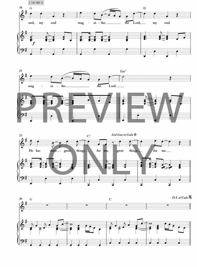 my soul magnifies the lord pdf lead sheet