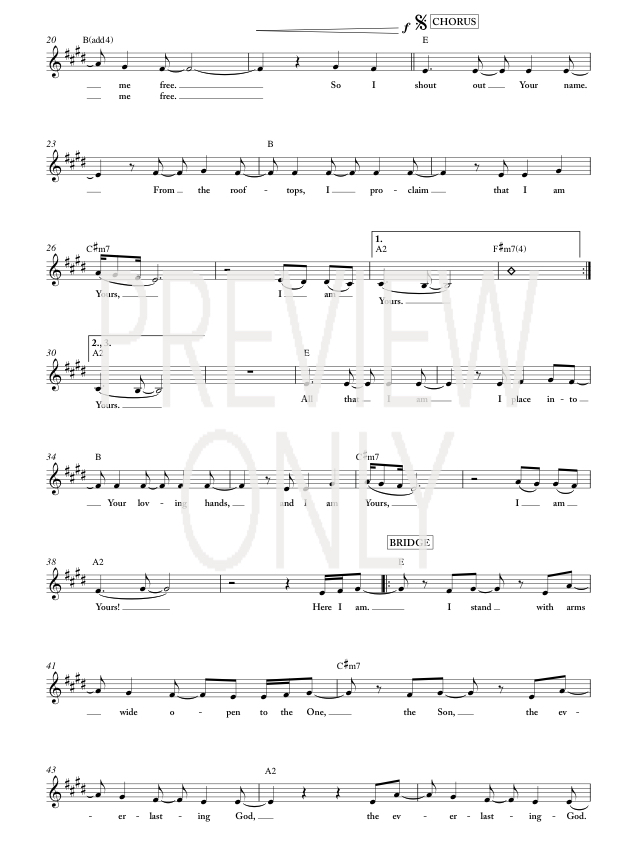 Rooftops Lead Sheet Lyrics Chords Jesus Culture Worshiphouse