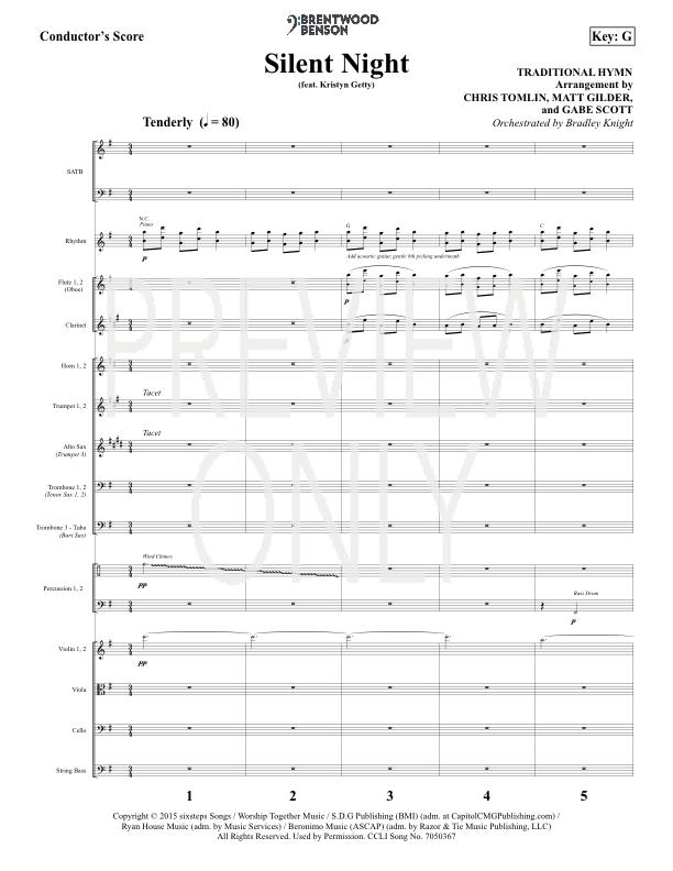 Silent Night Lead Sheet, Lyrics, & Chords | Chris Tomlin ...