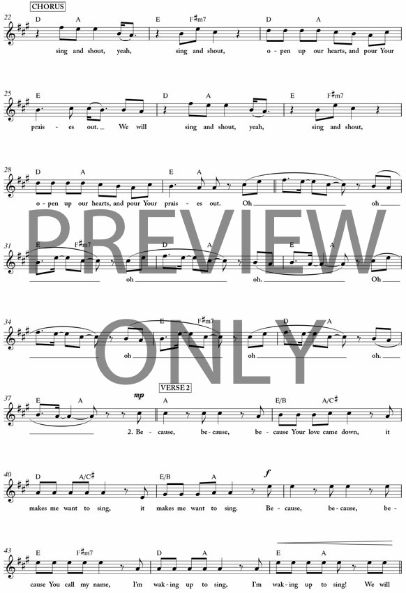 sing and shout matt redman chords pdf