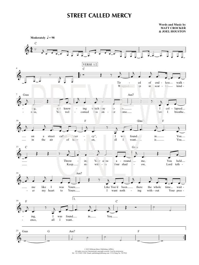 Lyric mercy mercy hillsong lyrics : Street Called Mercy Lead Sheet, Lyrics, & Chords | Hillsong United ...