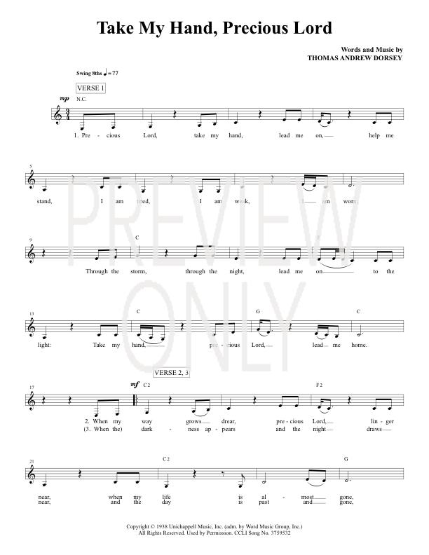 Lyric lyrics to take my hand precious lord : Words And Music To Precious Lord Take My Hand - Free worksheets ...