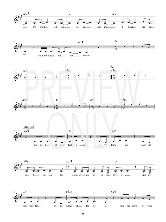 Touch The Sky Lead Sheet, Lyrics, & Chords | Hillsong United