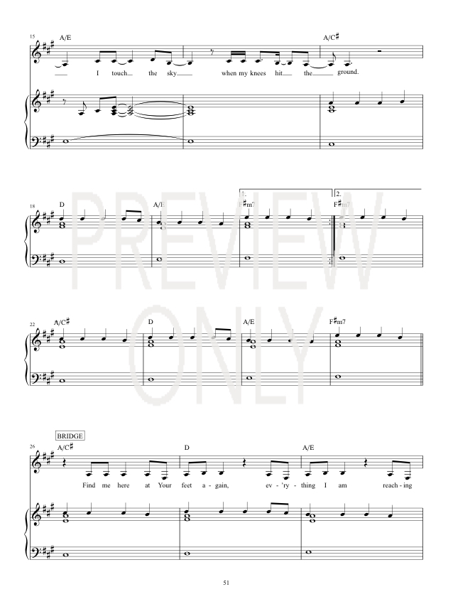 Touch The Sky Lead Sheet, Lyrics, & Chords | Hillsong United ...