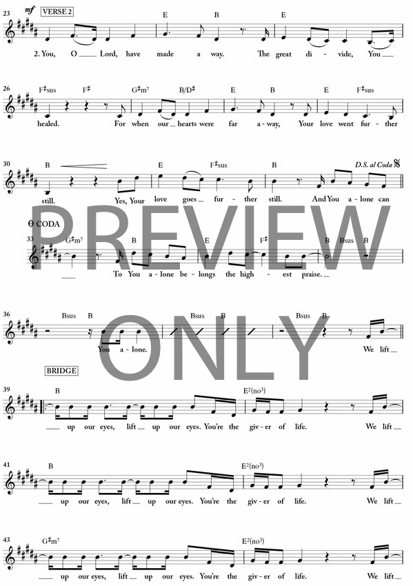 you alone can rescue lead sheet lyrics amp chords