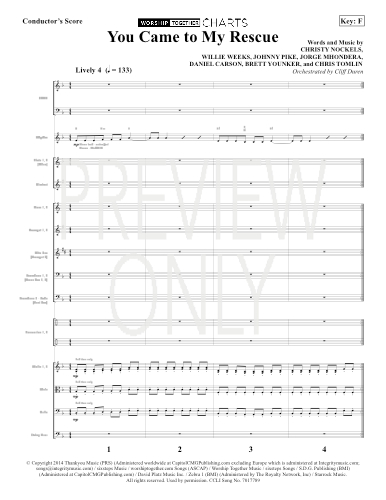 You Came To My Rescue Lead Sheet Lyrics Chords Passion