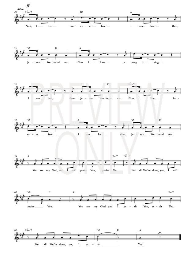 You Found Me Piano Sheet Music Keninamas