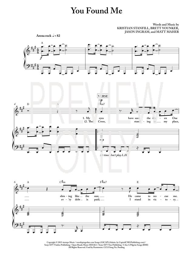 you found me piano sheet music - Anta.expocoaching.co